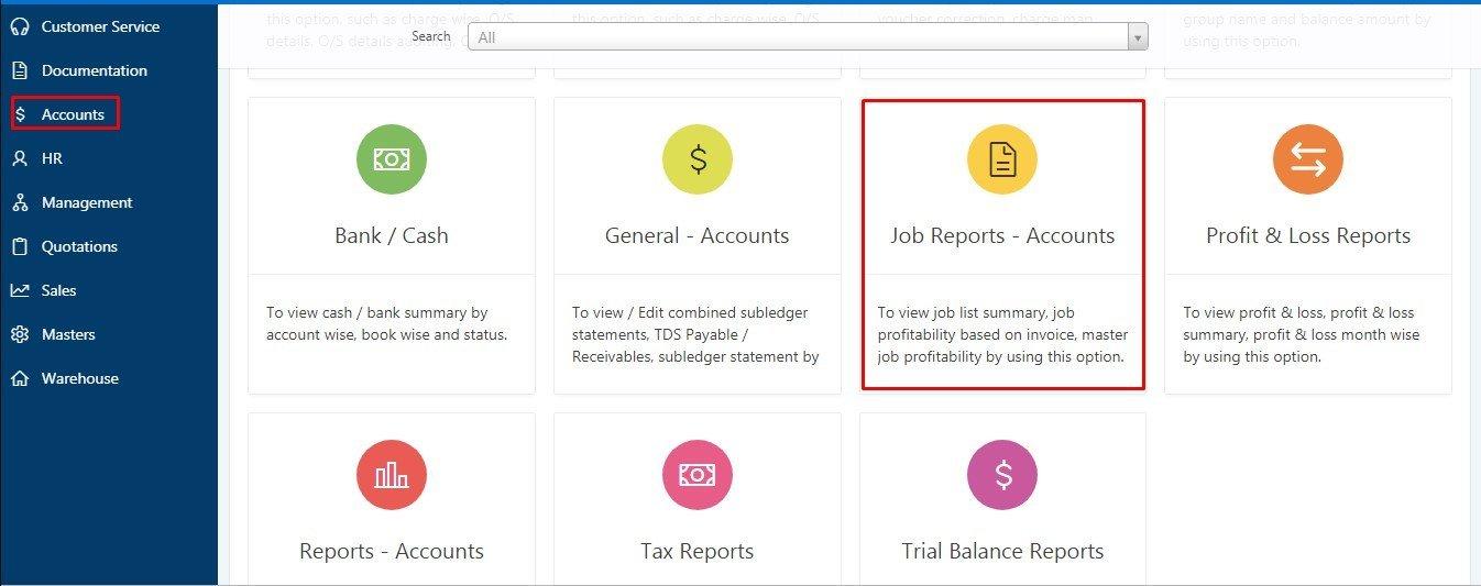 Invoice Report in Fresa Gold-1