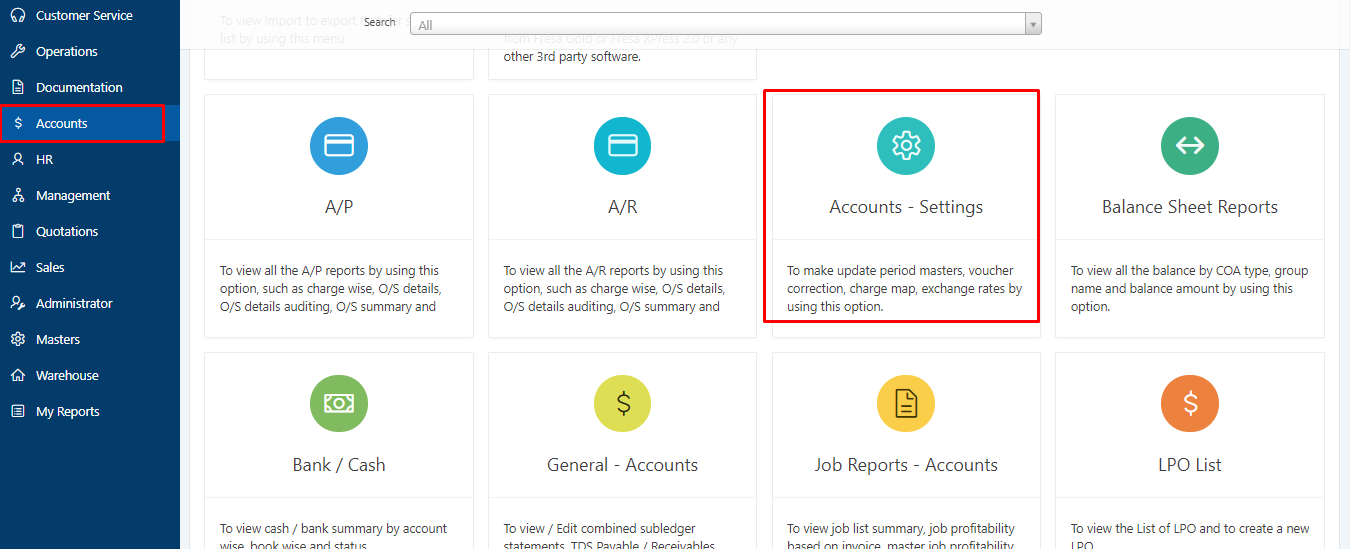 Account Mapping in Employee
