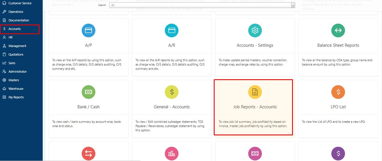 Job Profitability based on Invoice